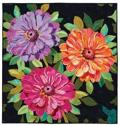 Zinnia Bouquet Quilt Kit Melinda Bula Designs Keepsake Quilting