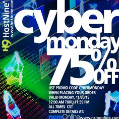 off all new HostNine web hosting plans! Best Budget, Cyber Monday, Coupon Codes, Coupons, Budgeting, Coding, How To Plan, Coupon, Programming