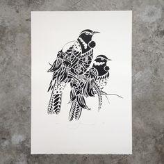 Tui Rua Screen Print by Flox - Art Prints NZ Art Prints, Design Prints, Posters & NZ Design Gifts | endemicworld