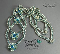 Entwined Bracelet Tutorial - Layered RAW and Faux CRAW 3mm pearls and 3mm bicone crystals along with seed beads.