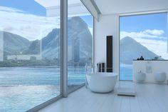 Doğayla iç içe bir banyoda güzel bir pazar günü geçirmek ister miyidiniz?