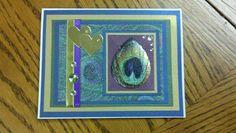 Peacock wedding card.