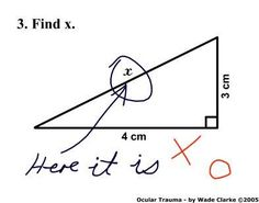 Not sure why this kid got the answer wrong to me it is obvious that x is right there....lmao