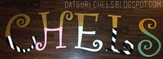 wood letter, painted and topped with glitter for my party. will be used in my art room later on.  painting craft project diy black and white stripes design dots gold swirl blog blogger pink blue turquoise baby nursery chels chelsea