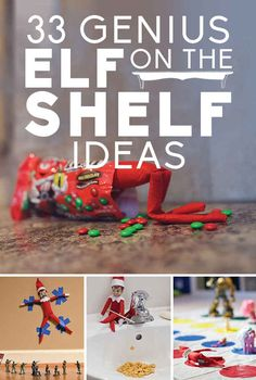 33 Genius Elf On The Shelf Ideas Every december night before christmas, parents hide the elf somewhere in the house for the kids to find it in the morning. Usually (but not always) the elf was up to no good. Could use a handmade or felted dwarf instead of the elf, as I don't know if you can get them here.