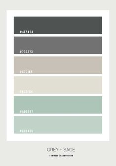 sage green and grey color palette, sage and grey color scheme, sage green and grey color palette Color Palette For Home, Sage Color Palette, Bedroom Colour Palette, Pantone Colour Palettes, Color Schemes Colour Palettes, Green Color Schemes, Bedroom Color Schemes, Bedroom Colors, Mint Bedroom Walls