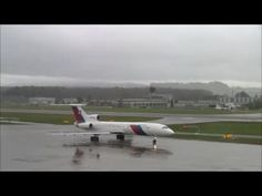 Slovakia Government Tupolev 154 at ZRH (with live ATC/beautiful sound)