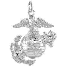 Sterling Silver Eagle Globe & Anchor U.S. Marines EGA Pendant, 1 1/8 inch tall Sabrina Silver http://www.amazon.com/dp/B004KO6DSA/ref=cm_sw_r_pi_dp_b8O8ub1WMMSCJ