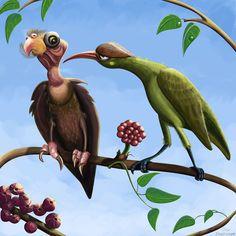 Whimsical birds Art Print by Paintis Passion - X-Small Bird Wall Art, Bird Artwork, Nursery Wall Decor, Nursery Art, Cartoon Wall, Dragonfly Art, Bird Drawings, Bird Prints, Printable Art