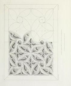 Gothic Mirror, Gothic Art, Tangle Patterns, Wood Patterns, Geometric Art, Geometric Designs, Geometric Patterns, Arabesque, Free Hand Designs