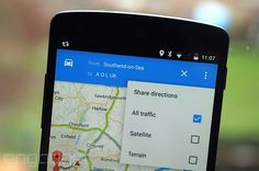 The feature automatically creates a numbered list of text directions and attaches a link. | #directions #maps #Google #Android #UK