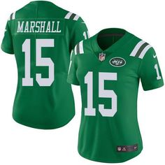 Nike Jets  15 Brandon Marshall Green Women s Stitched NFL Limited Rush  Jersey Darrelle Revis 5afabf553