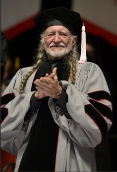 Willie Nelson receives an honorary doctor of music degrees during the 2013 Berklee College Of Music Commencement at Berklee College of Music on May 11 in Boston. (Photo by Paul Marotta/Getty Images)