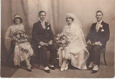 Original photo showing 1920/30's wedding group   eBay