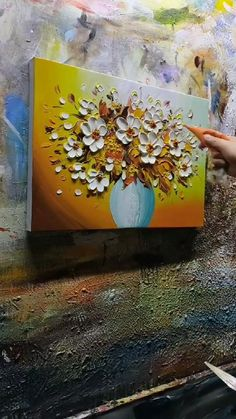 Acrylic Painting Flowers, Oil Painting Abstract, Texture Painting, Acrylic Painting Canvas, Knife Painting, Art Painting Gallery, Diy Canvas Art, Gold Leaf Art, Modern Art
