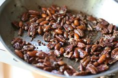 From Murr's Menu: Chai Spice Roasted Nuts (Sugar Free) Spiced Pecans, Cinnamon Almonds, Frugal Meals, Cheap Meals, Salad Topping, Roasted Nuts, Finger Food Appetizers, Finger Foods, Cabbage Recipes