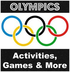 Olympics-Themed Activities for Kids- Parents and teachers can use these resources for their kids: tons of videos, games, and activities to learn about the Olympics.