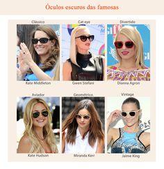 Os óculos escuros fazem toda a diferença em um look, então conheça os modelos que as famosas apostam e escolha o seu preferido!
