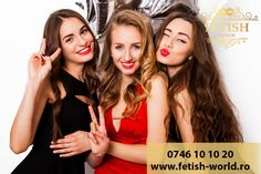 Close up fashion portrait of three elegant women with bright make up, curly hair and elegant evening dress smiling show kiss and having fun against white background. Elegant Woman, Rich Girls, Bikinis, Swimwear, Curly Hair Styles, Photo Editing, Have Fun, Evening Dresses, Royalty Free Stock Photos