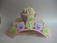 Super Cute Owl Cupcake Wrappers by artnheartinspiration on Etsy, $13.00