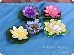 DIY Manualidades con rollos WC: Flores de loto