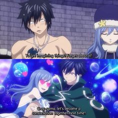 Gruvia - Gray and Juvia Fairy Tail Gruvia, Fairy Tail Gray, Fairy Tail Ships, Fairy Tail Anime, Fairy Tail Fotos, Zeref, Fairytail, Juvia And Gray, Got Anime