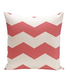 Another great find on #zulily! Coral Zigzag Throw Pillow by E by Design #zulilyfinds