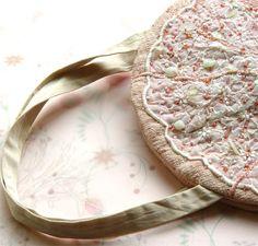 PINK SILK Clutch Bridesmaid Gift Embroidered by BozenaWojtaszek, $200.00
