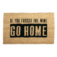 Where's the Wine 18 in. x 30 in. Coir Mat, Light Brown