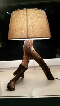 Bespoke driftwood lamp - more at https://m.facebook.com/branchoot