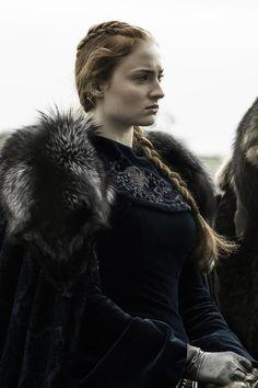 Sophie Turner as Sansa Stark in 'Game of Thrones' (HBO Sophie Turner, Jon Snow, Khal Drogo, Winter Is Here, Winter Is Coming, Game Of Thrones Sansa, Game Of Thrones Instagram, Watchers On The Wall, Game Of Thrones Costumes