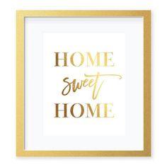 Home Sweet Home Foil Art Print by Digibuddha