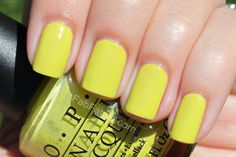 Nicki Minaj OPI Collection Swatches Did It On 'Em - Yellow Green Lime Creme Nail Polish
