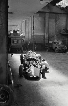 Maserati garage -- Perfect Light for such ARTISTIC WORK... A studio for Masterpieces. :.. !!