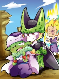 DBZ Cell and piccolo