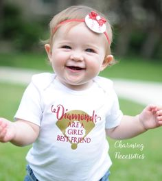 Baseball Sister Shirt, Softball Fan, Baby Girl Clothes, Toddler Girl Clothes, Baby Girl Outfits, Diamonds are a Girls Best Friend Custom Per by CharmingNecessities on Etsy https://www.etsy.com/listing/268665117/baseball-sister-shirt-softball-fan-baby