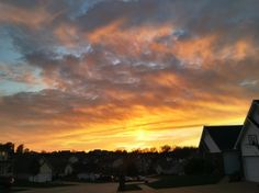 Sunset over St Charles, MO