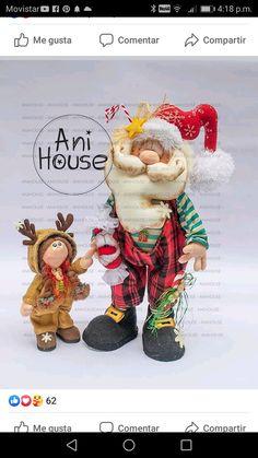 Cornish Pixie, Fabric Dolls, Happy Halloween, Santa, Teddy Bear, Christmas, Papa Noel, Needle Felted Ornaments, Christmas Ornament