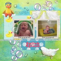 This is one of my scrapbook pages of my little grandniece and it's one of my favorites.