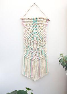 Macrame wall hanging / rope wall hanging / weaving / wall art / contemporary macrame / modern macrame / nursery decor / baby room