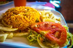 Rice with Chicken at a restaurant on the Grande de Orosi riverbanks #CostaRica #rafting