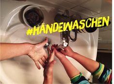 Kinder und Händewasc