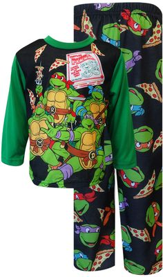 WebUndies.com Teenage Mutant Ninja Turtle Pizza Party Toddler Pajama Set