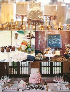 Wedding Dessert Tables, From Rustic to Romantic