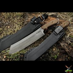 TOPS Knives El Chete Knife Green/Black Micarta (12.0 Inch 1095HC Acid Rain) TPELCH01 | OsoGrandeKnives