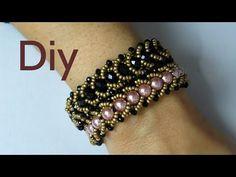 Como Fazer - Diy Bijuterias - Bracelete de Pérolas e Cristais !! - YouTube