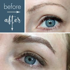 Stef's newly microbladed brows, courtesy of Narin at Shaped Microblading