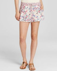 French Connection Shorts - Water Garden Floral Print