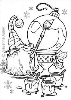 christmas gnome coloring page