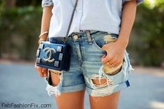 Style Watch: 50 summer street style inspirations with denim shorts